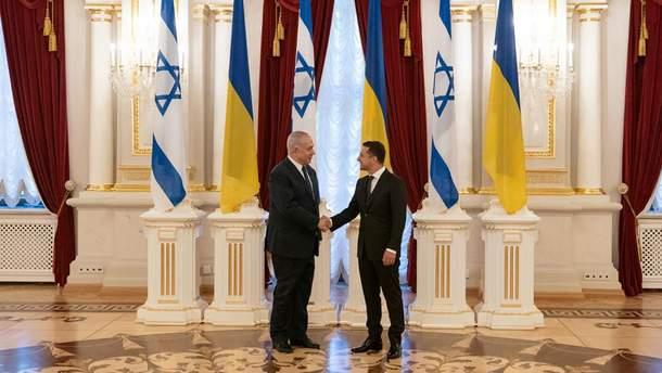 Володимир Зеленський та прем'єр-міністр Ізраїлю Біньямін Нетаньяху