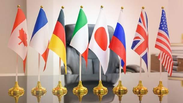 Флаги стран-лидеров G8