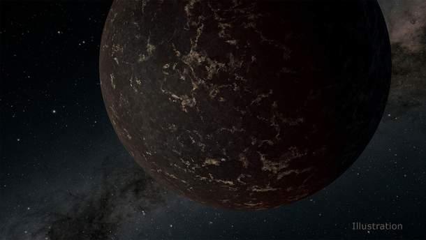 Планета полностью лишена атмосферы