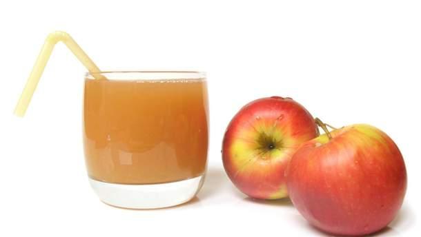 Яблучний сік різко підвищує рівень глюкози  в крові