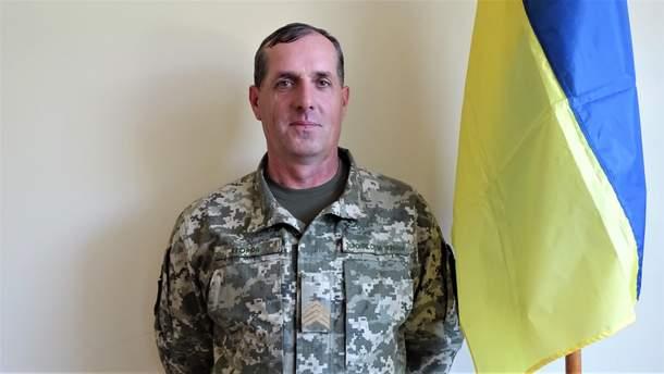 Командир взвода 28-й бригады Виктор Егоров