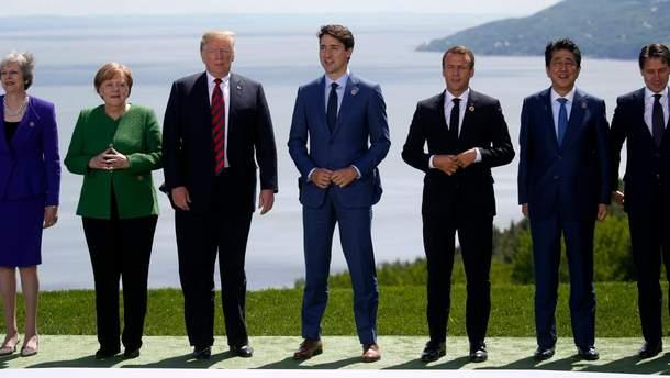 """Лидеры стран """"Большой семерки"""""""