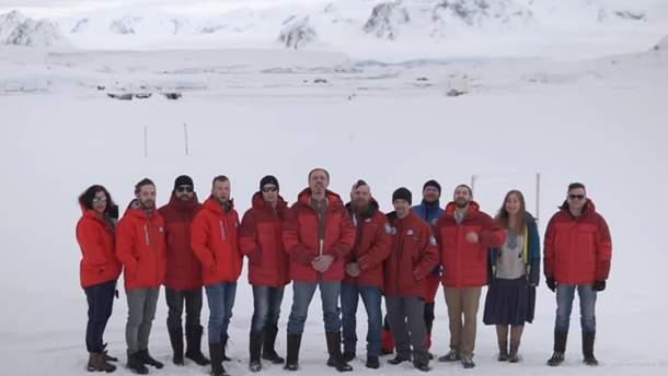 Привітання з Днем Незалежності з Антарктиди