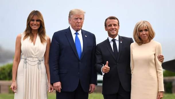 Дональди Мелания Трамп во Франции