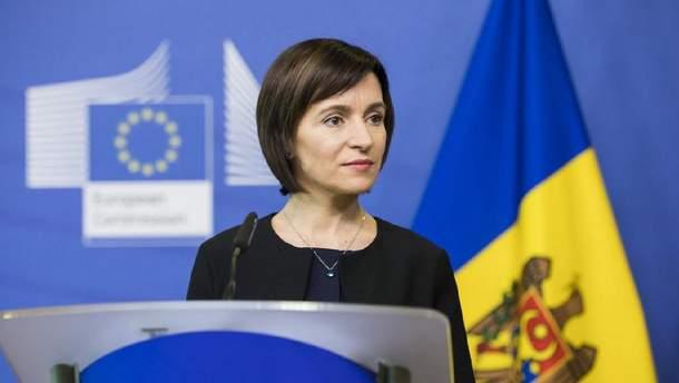 Майя Санду: Молдові важливі хороші відносини з Росією, але стратегічний партнер – Україна