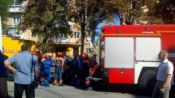 Взрыв дома в Дрогобыче