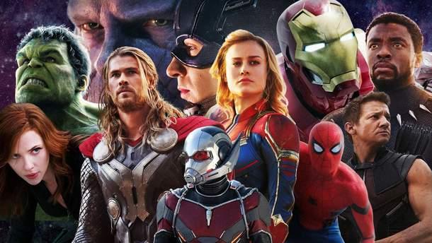 Персонажи из фильмов от Marvel