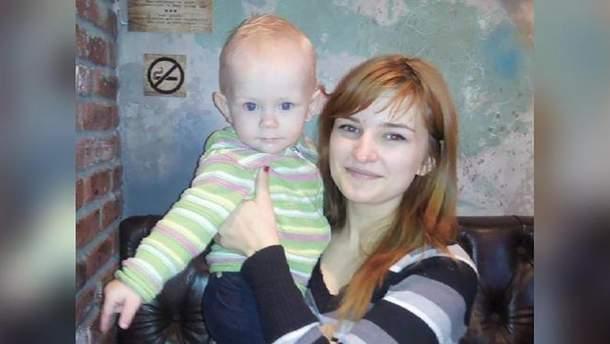 Владислава Трохимчук із сином