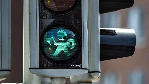 Викинги появились на светофорах в датском городе