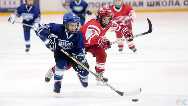 Дитяча бійка в хокеї
