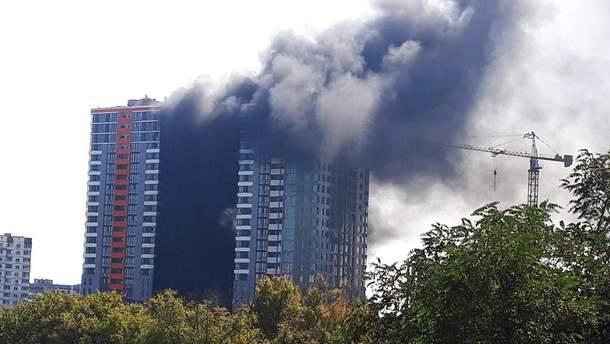 Пожежа на будівництві в Києві