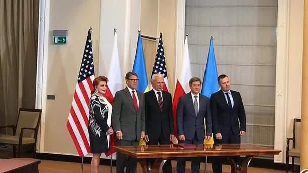 Данилюк заявил о подписании газового меморандума с США и Польшей
