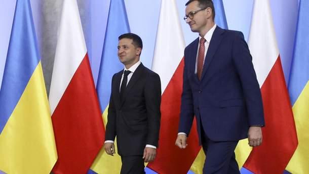 Президент України Зеленський та прем'єр Польщі