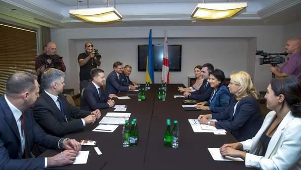 Украинская и грузинская делегации встретились в Польше