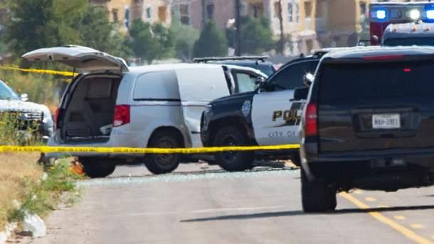 Момент ликвидации нападавшего в Техасе попал на видео