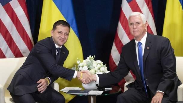 Зеленський у Варшаві провів зустріч з віцепрезидентом США Майком Пенсом