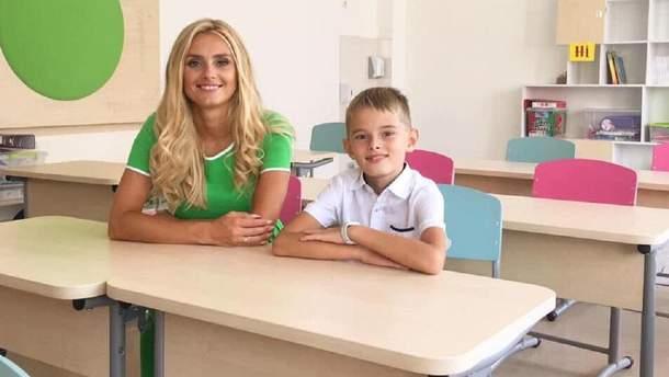 Ирина Федишин и сын