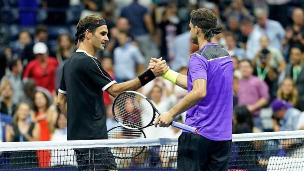 Пятикратный победитель US Open Роджер Федерер не сумел пробиться в полуфинал турнира
