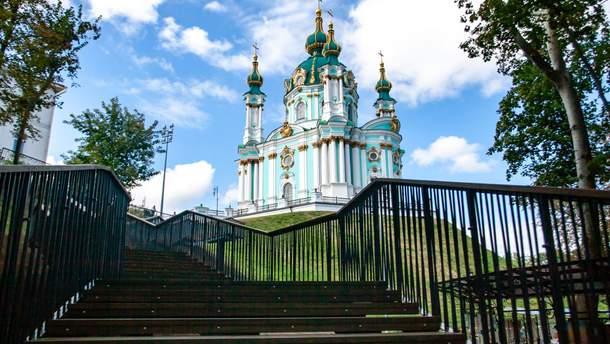 У Києві з'явились нові сходи до Володимирської гірки