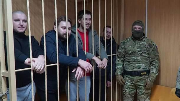 Украинские пленные моряки в России