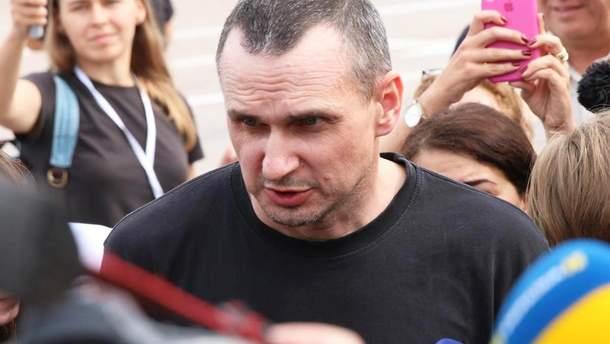 Олег Сенцов після звільнення з полону