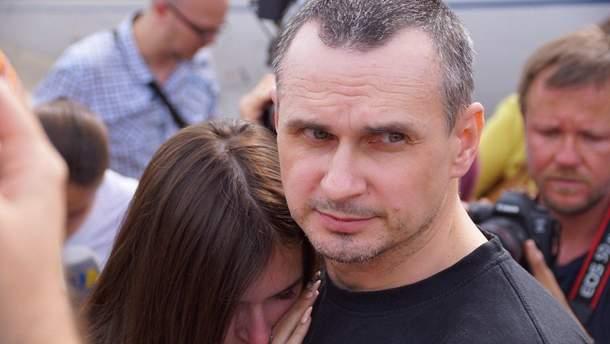 Олег Сенцов вернулся в Киев