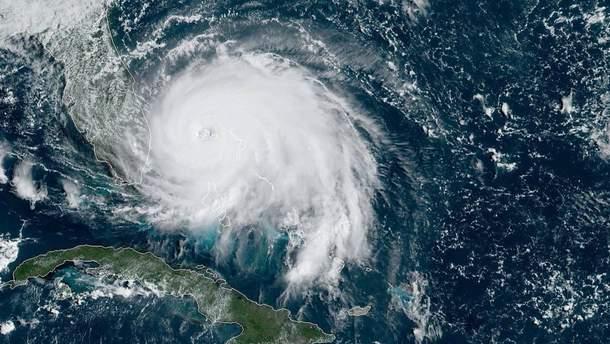 Фото урагану Доріан з космосу