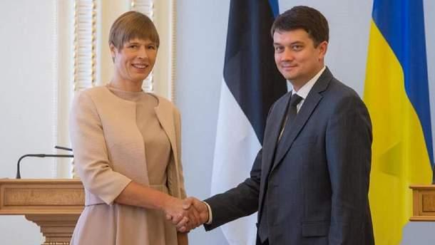 Дмитрий Разумков и Керсти Кальюлайд