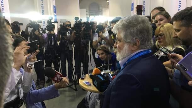 Коломойский впервые за 16 лет посетил форум YES