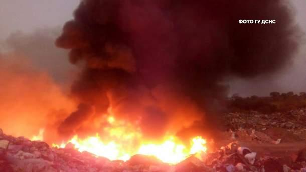 Пожар возле Ровно