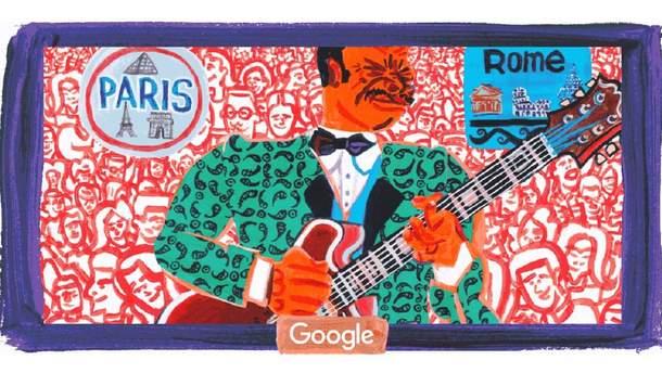 Google присвятив дудл Бі Бі Кінгу - Королю блюзу - 94-річчя від дня народження