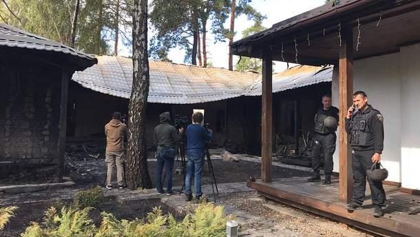 Дом Гонтаревой после пожара