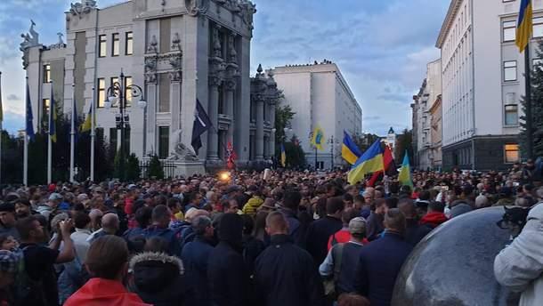 В Киеве митинговали против формулы Штайнмайера