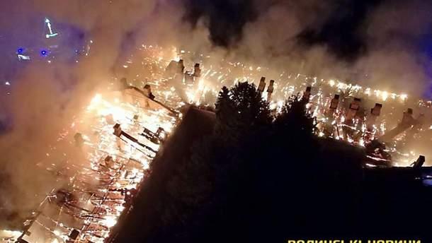 Пожар в Луцком военном госпитале