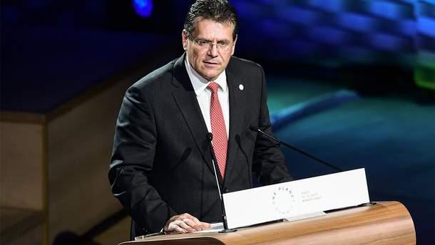 Шефчович рассказал о закулисье газовых переговоров