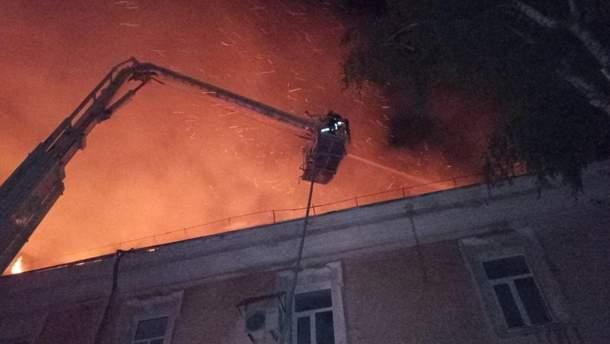Пожар в военном госпитале в Луцке