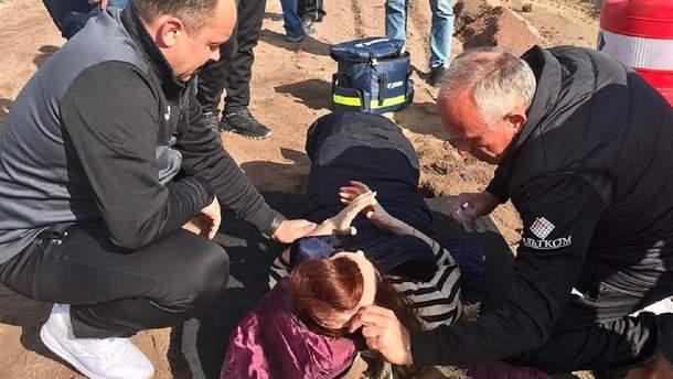 """""""Олимпик"""" помог пострадавшим в ДТП"""