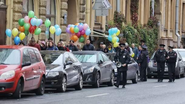 Фото з акції у Санкт-Петербурзі