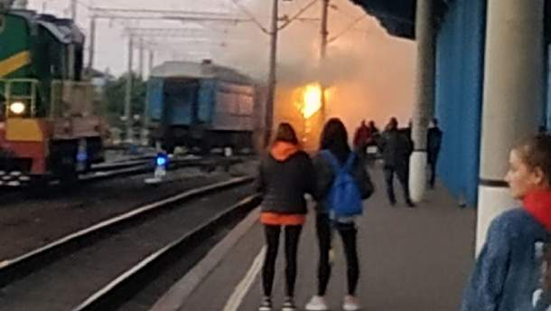 Пожежа на вінницькому вокзалі