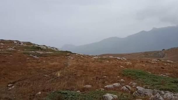 У горах Криму – перший сніг