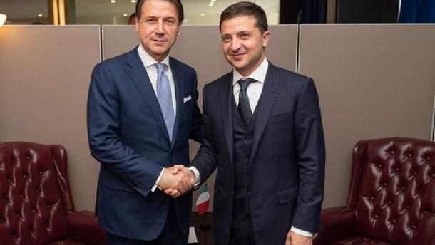 Зеленський зустрівся з прем'єром Італії Конте