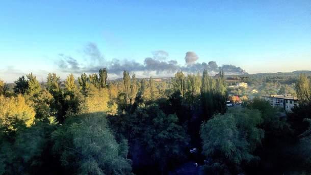 Пожежа в Донецьку 25.09.2019 – відео пожежі складу з боєприпасами