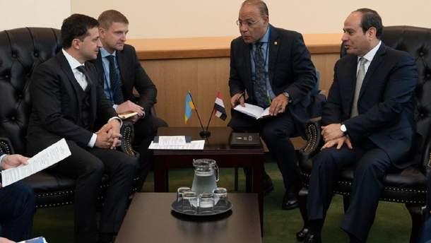 Зеленський зустрівся з президентом Єгипту ас-Сісі