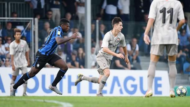 """""""Шахтар"""" на останній хвилині вирвав нічию в """"Аталанти"""" в Юнацькій лізі УЄФА"""