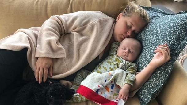 Емі Шумер з сином