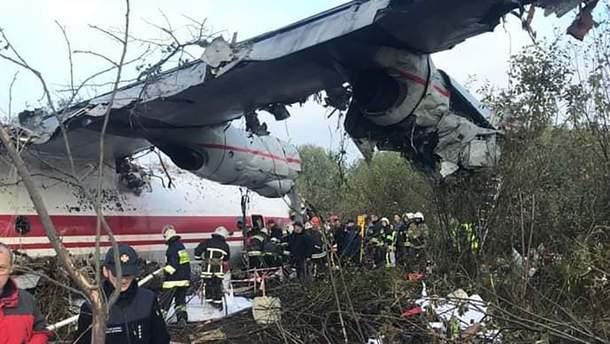 Смертельная авария самолета Ан-12 под Львовом