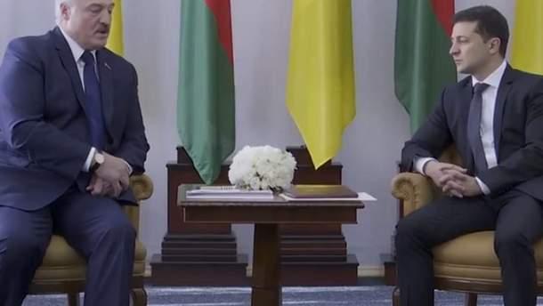 Олександр Лукашенко і Володимир Зеленський