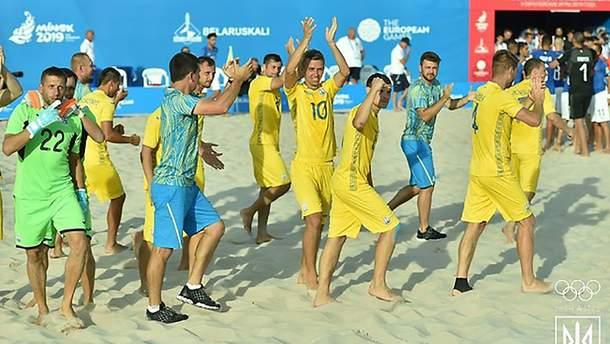Сборная Украины по пляжному футболу выступит на I Всемирных пляжных играх