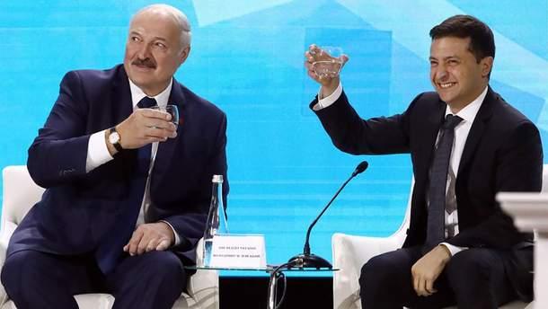 Олександр Лукашенко та Володимир Зеленський