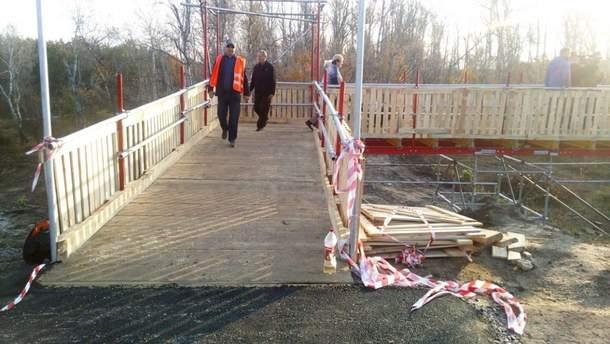 На мосту у Станицы Луганской открыли временный переход